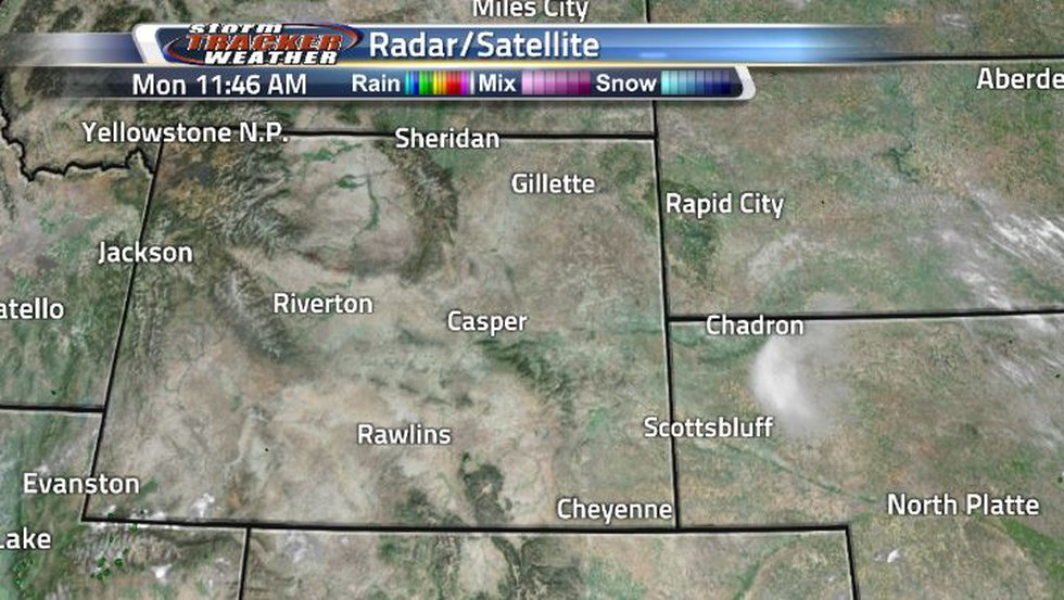 Wyoming is looking very clear, besides a few light clouds along the borders.