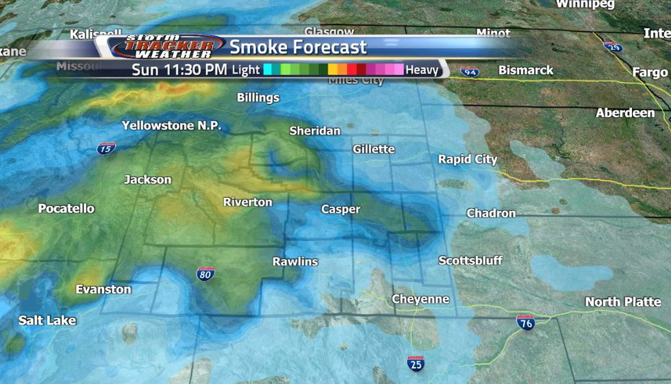 As the weather continues to be warm and mild, the smoke also makes a comeback.