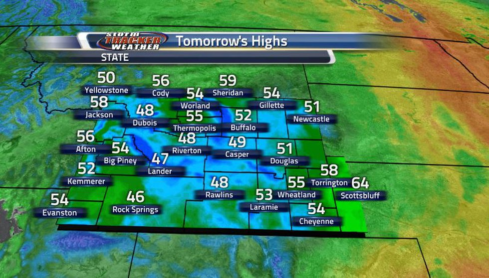 Because the majority of the front is moving through overnight, we can see not too much of a...