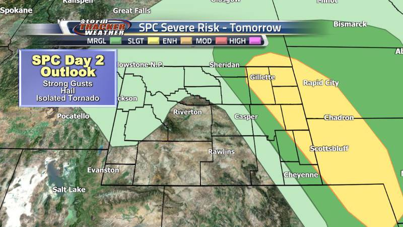 The Storm Prediction Center has issued a Slight (Level 2) Risk for severe weather in Eastern...
