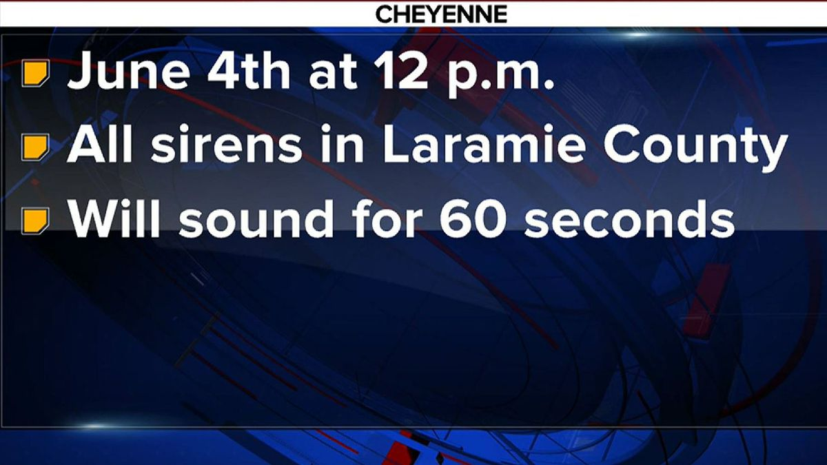 The Laramie County Emergency Management Agency will be testing all sirens in Laramie County.