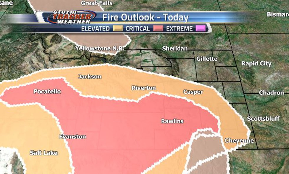 Most of the southern and southwestern parts of the state are in a Critical Fire Risk....