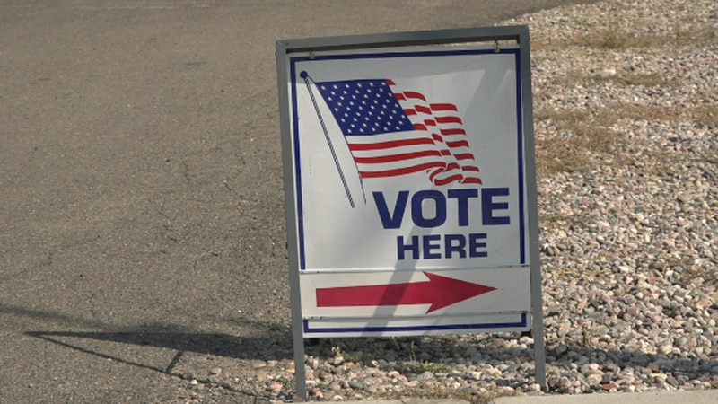 A vote sign located at LCDS2 Station1 for the vote on LCFD2 and 8s consolidation proposal in...