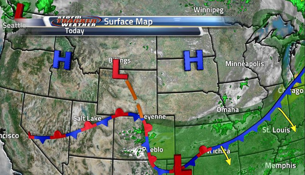 The state is left with clear skies and cool temperatures now that the second cold front moved...