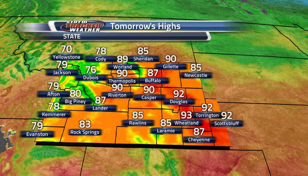 As the front moves back to the north, the temperatures will be warming up to the 80s and 90s,...