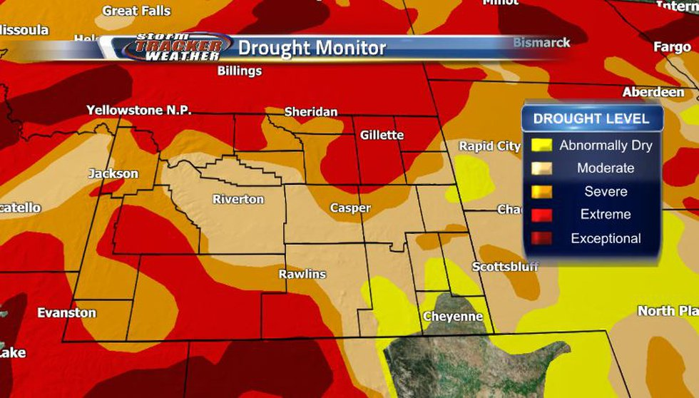 Our drought situation has actually gotten better in the southwest corner near Evanston while...