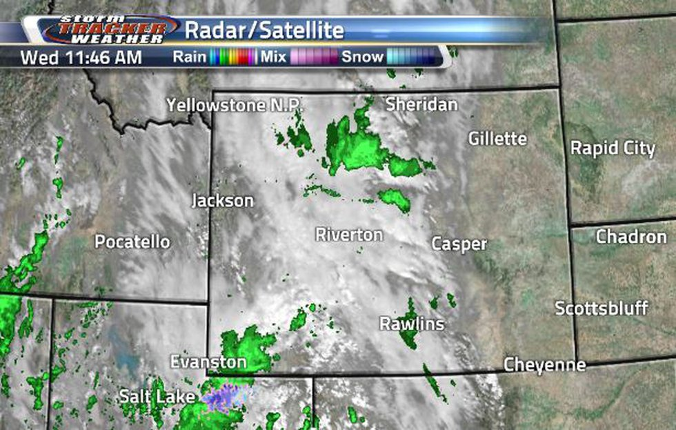 There is a broad area of clouds and showers throughout the state.