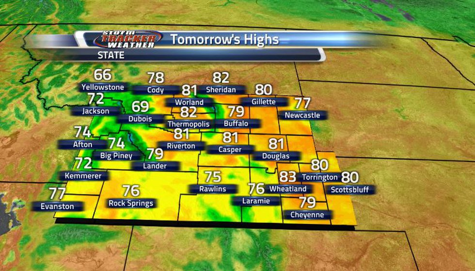 With the front mostly gone tomorrow, the state can see much more seasonable temperatures with...