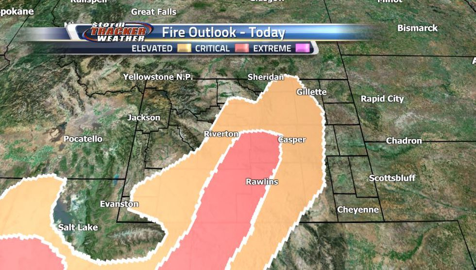 Powerful winds from the southwest bringing in hot and dry air are fueling a wildfire threat in...