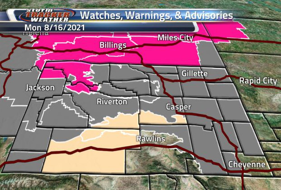 There are plenty of Air Quality and Fire Weather Watches/Warnings across the state today.