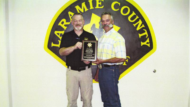 Picture of James Barth and Sheriff Danny Glick