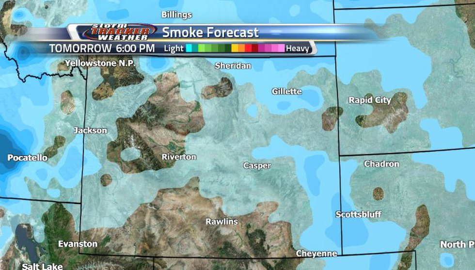 Just some light smoke will be sticking around the state. Luckily, none of it is enough for the...