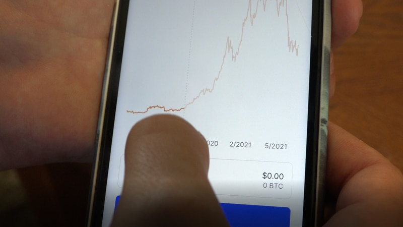 A crypto currency app on June 10