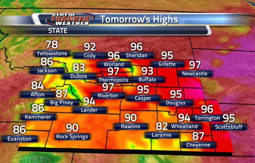 Tomorrow, we will continue being hot! More cities will get the chance to sit in the 90s.