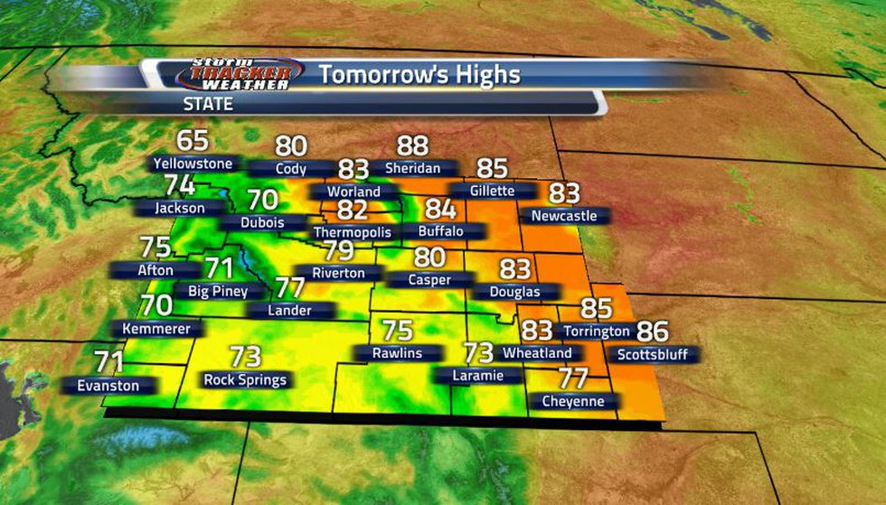 While we were certainly on the warmer side today, tomorrow is expected to be even warmer with...