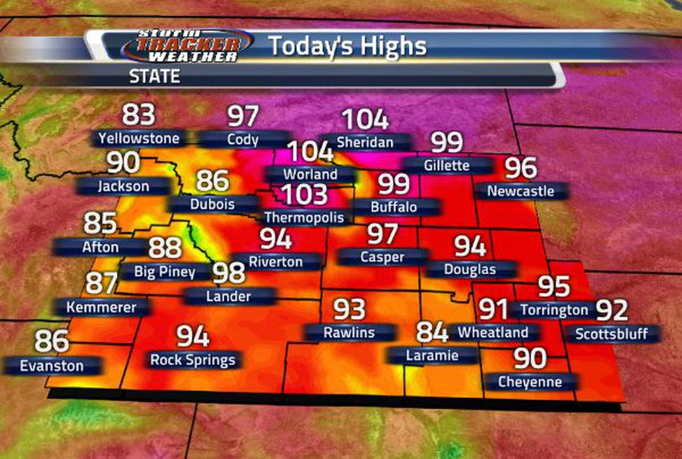 It is a hot one! Temperatures extending through the 90s and further past the 100 degree mark.