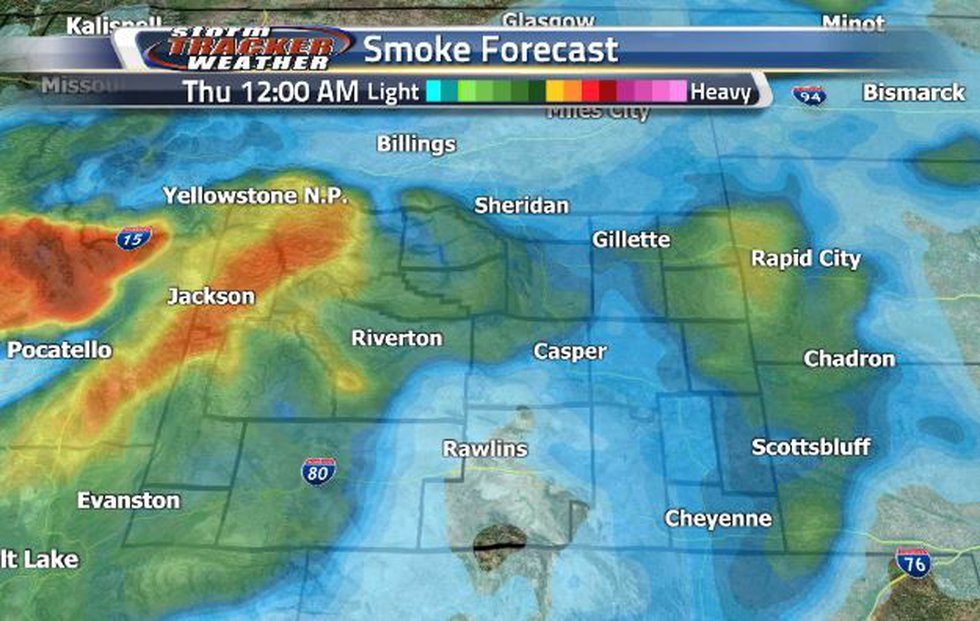 Rain is going to help clear out some smoke overnight in the south and central portion of the...