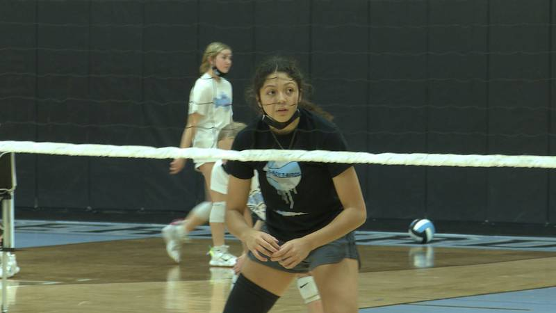 Elysiana Fonseca leads East Volleyball in aces, kills, and blocks.