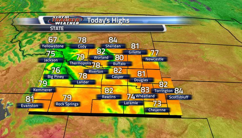 Today we saw relatively cooler than average temperatures across the state.