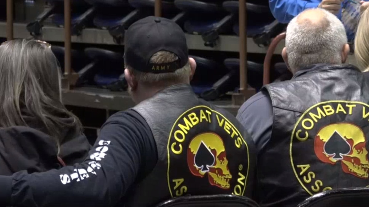 Members of the Combat Veterans Motorcycle Association.