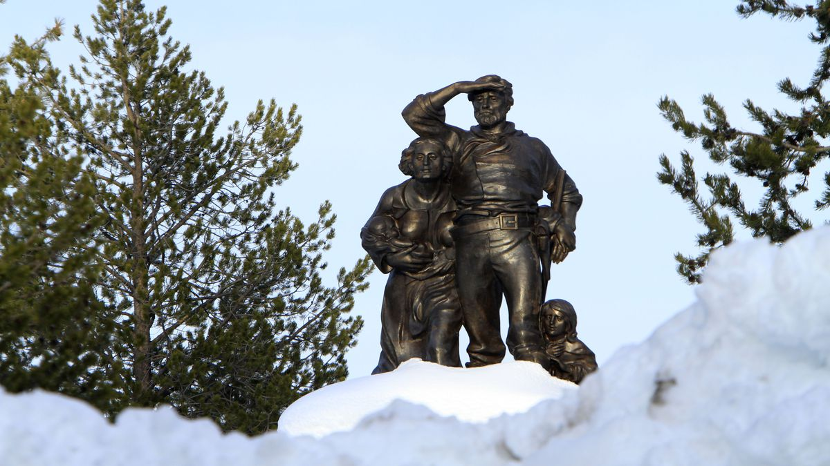 FILE - In this file photo taken Monday, March 28, 2011, the Pioneer Memorial, dedicated to the...