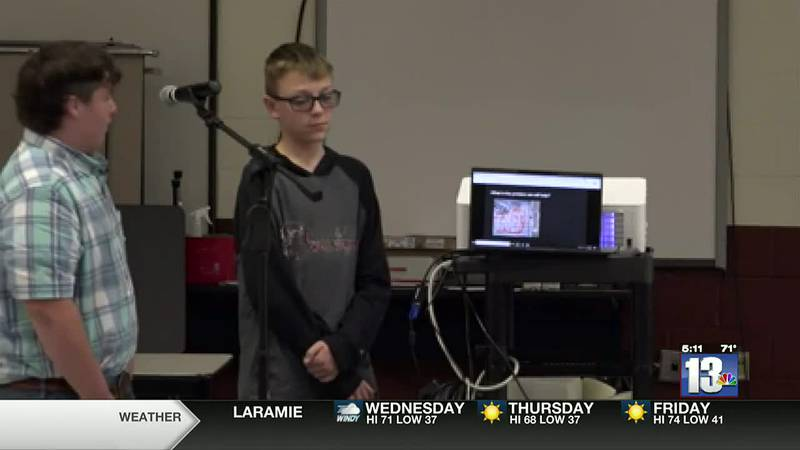 Students at Riverton Middle School in the Community Improvement Association presented their...