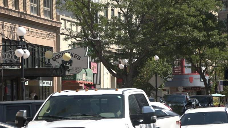 Downtown Casper on Sept. 14