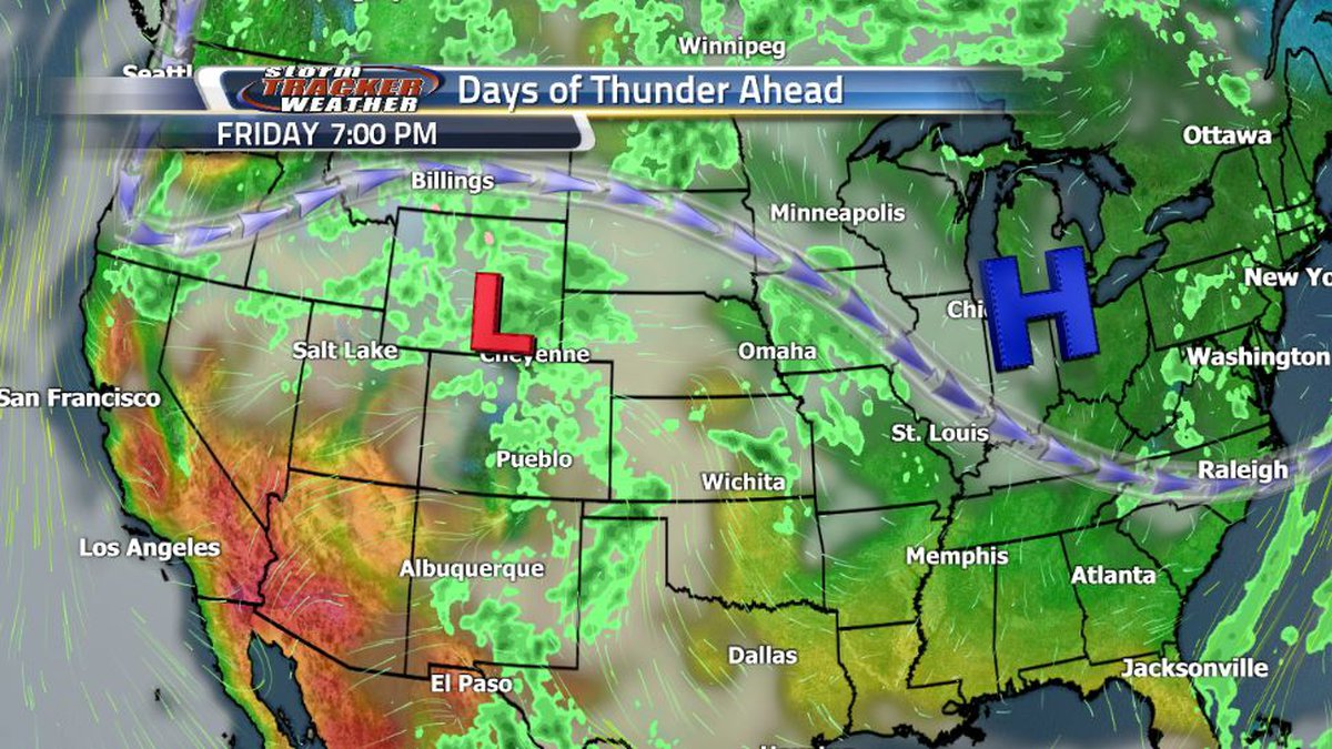 A dip in the jet stream over the Pacific Northwest Friday evening will bring several...