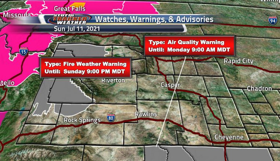 Air quality warnings are still in effect as the winds have carried the smoke from the wildfire...