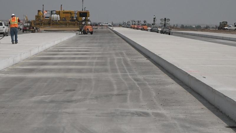 Cheyenne Regional Airport runway under reconstruction