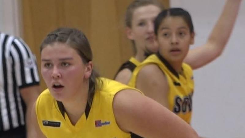 Former Douglas High School Bearcat Joslin Igo sizing up her defensive assignment during the...