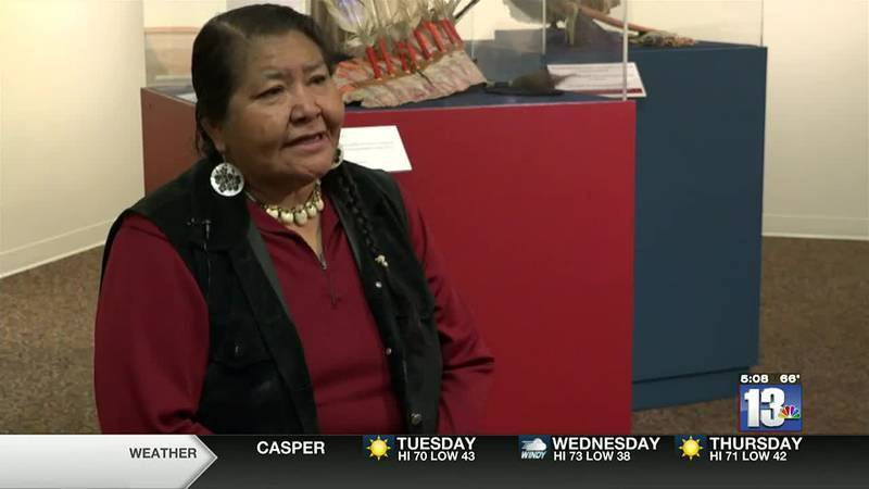 Reba Jo Teran in Lander, WY speaking about preserving the Shoshone language
