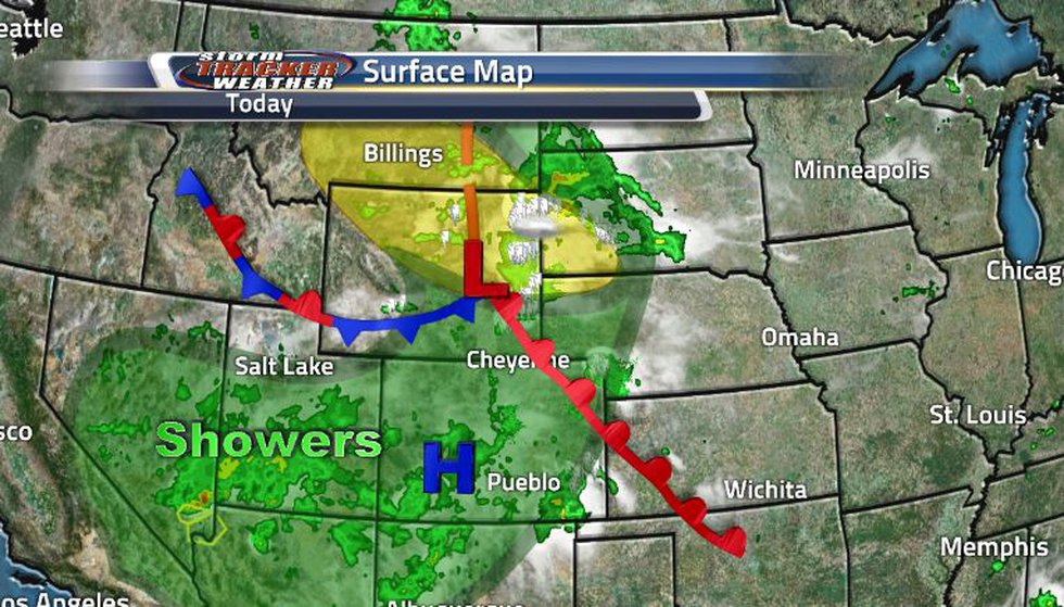 The state is right in the middle of lots of atmospheric activity. A cold front turned...