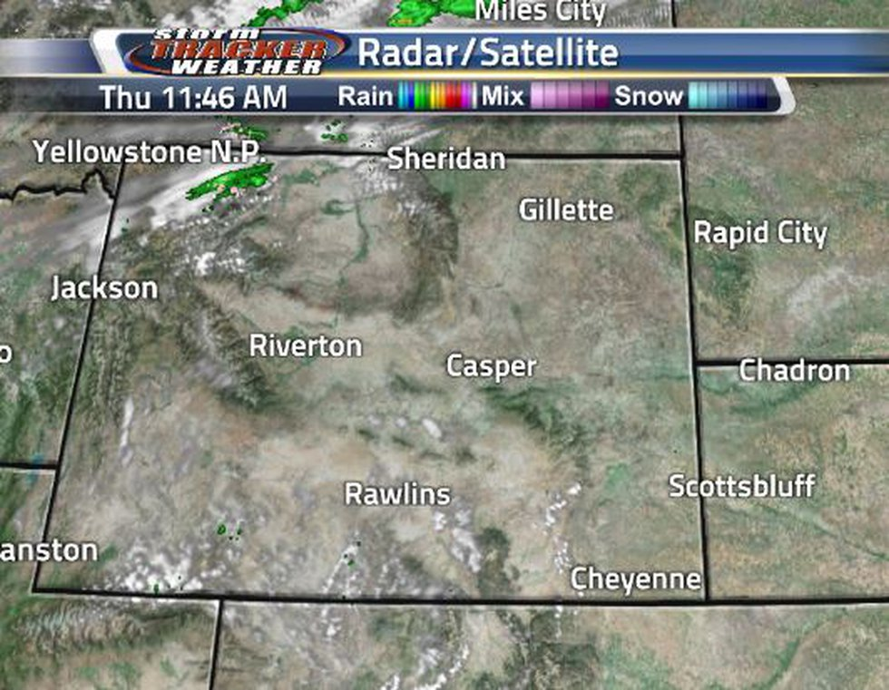 Clouds are beginning to move into the state.