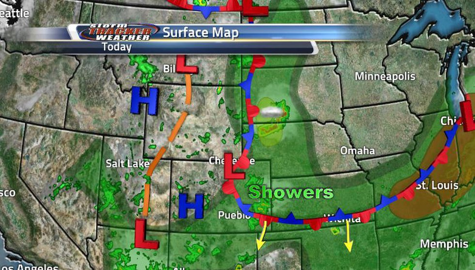 After the stationary front moved out to the east a little bit, much of the severe weather...