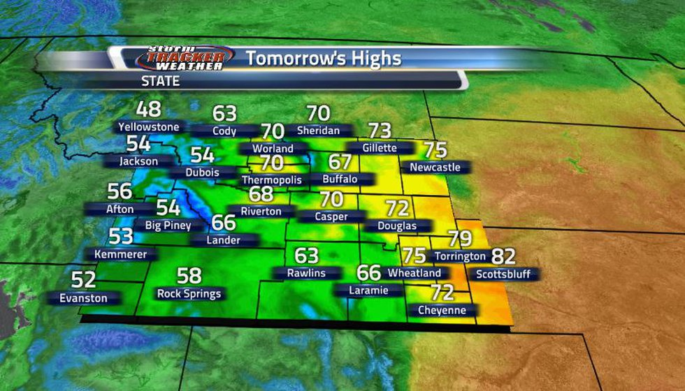 Temperatures are still staying warm for the eastern side of the state while the west and south...