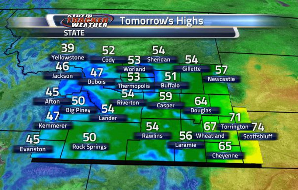 There will be a wide range in temperatures tomorrow.