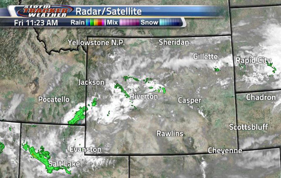 We are just seeing mostly clouds within the state right now. This morning, there were quite a...