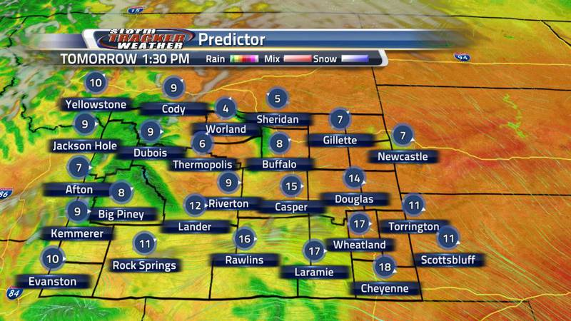 The trend for the next couple of days are warm, dry and windy as we are dominated by a high...