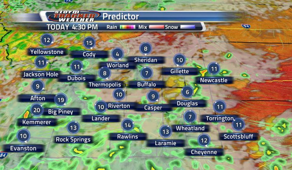 Rain will being making its way into the Cowboy State early this afternoon and is expected to...