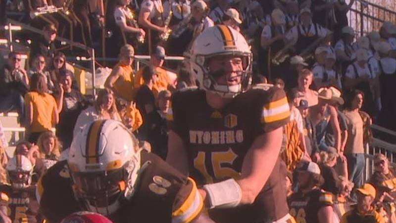 University of Wyoming Quarterback Levi Williams lines up in the shotgun prior to taking a snap...
