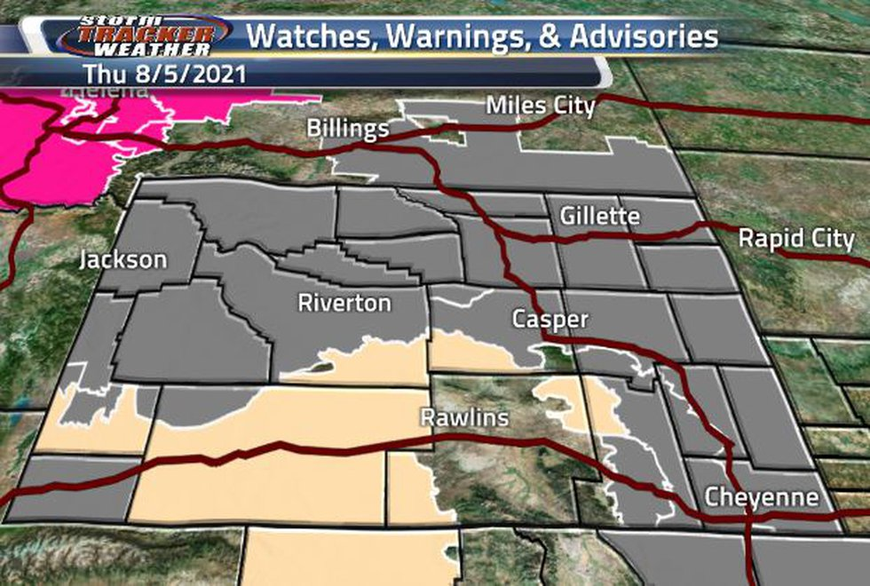 Air Quality Warnings are taking up majority of the state. The south and central portion of the...