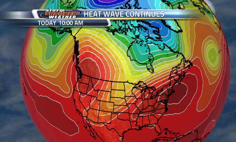 A record breaking heat wave has been over the NW corner of the US for several days.