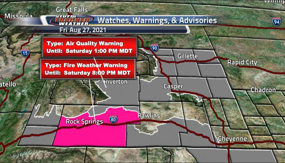 Despite the rain from yesterday, there are still a few fire weather warnings in place and the...