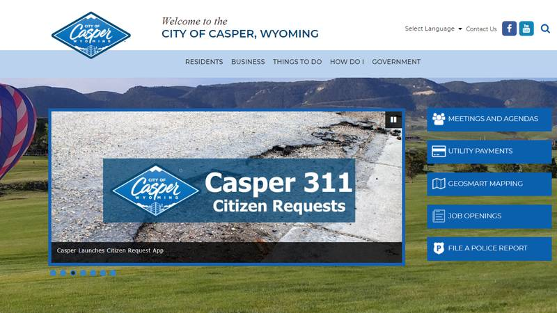 The City of Casper recently launched a new online feature for completing permits, licensing,...