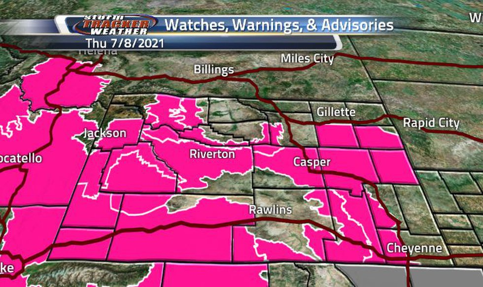 Three-quarters of the state is under a Fire Weather Warning today. Though it looks to be one...
