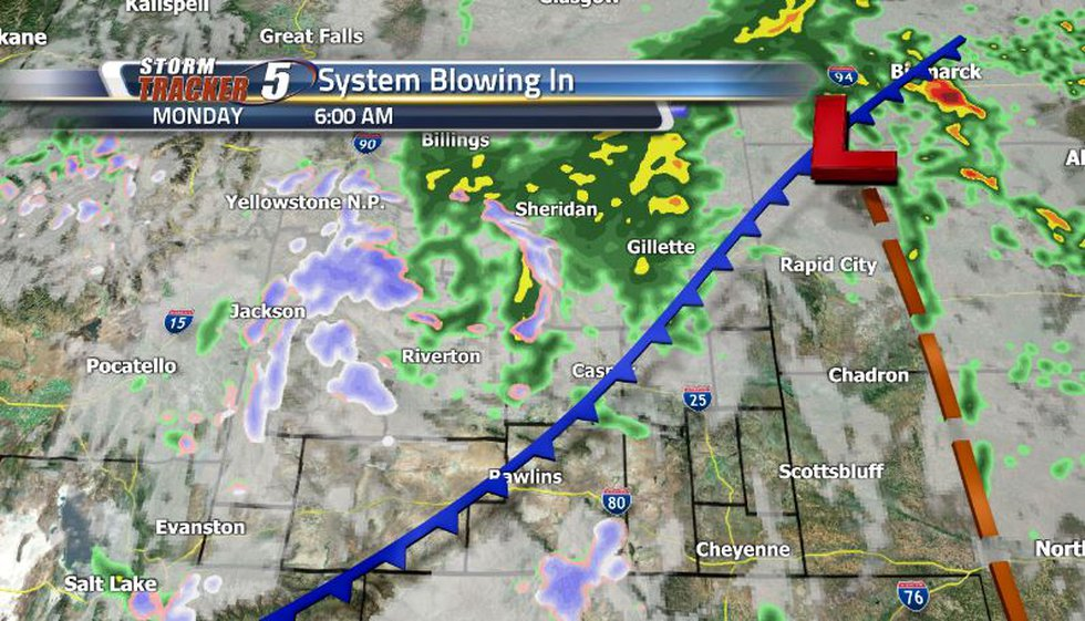 With a very strong cold front moving through on Monday, expect lots of scattered showers and...