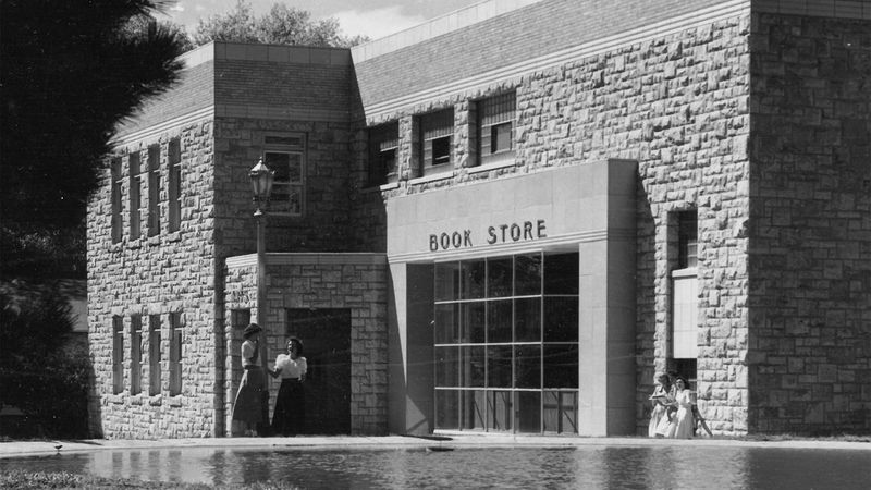 In 1957, the UW Book Store was located in the Arts Building, where the Biological and Physical...
