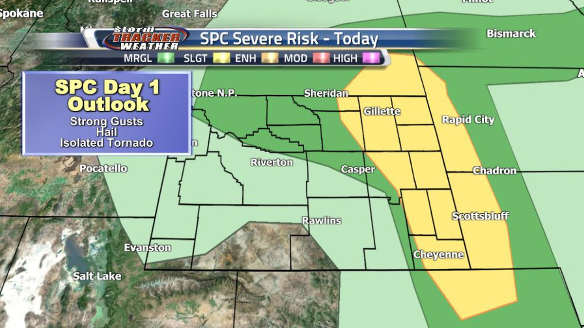 The SPC has expanded the Slight Risk zone for this afternoon, and it now includes Cheyenne and...