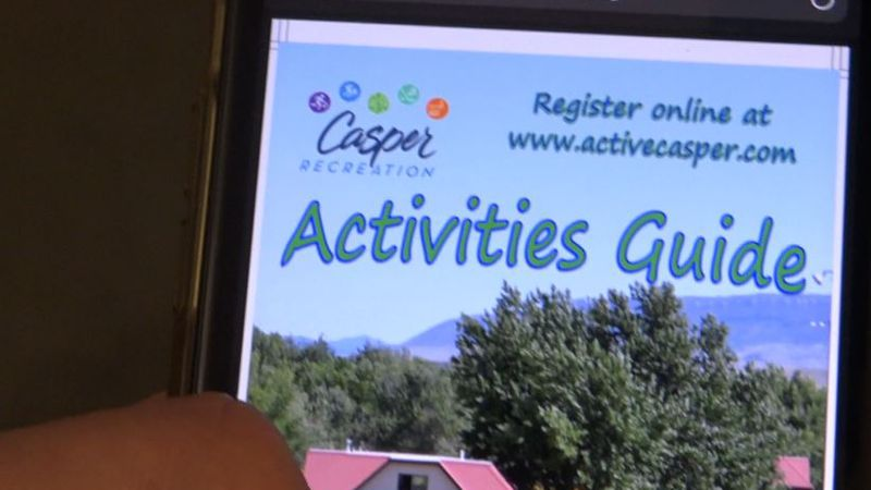 Casper Parks and Recreation's 2021 summer guide loaded online on a mobile phone on May 5, 2021.